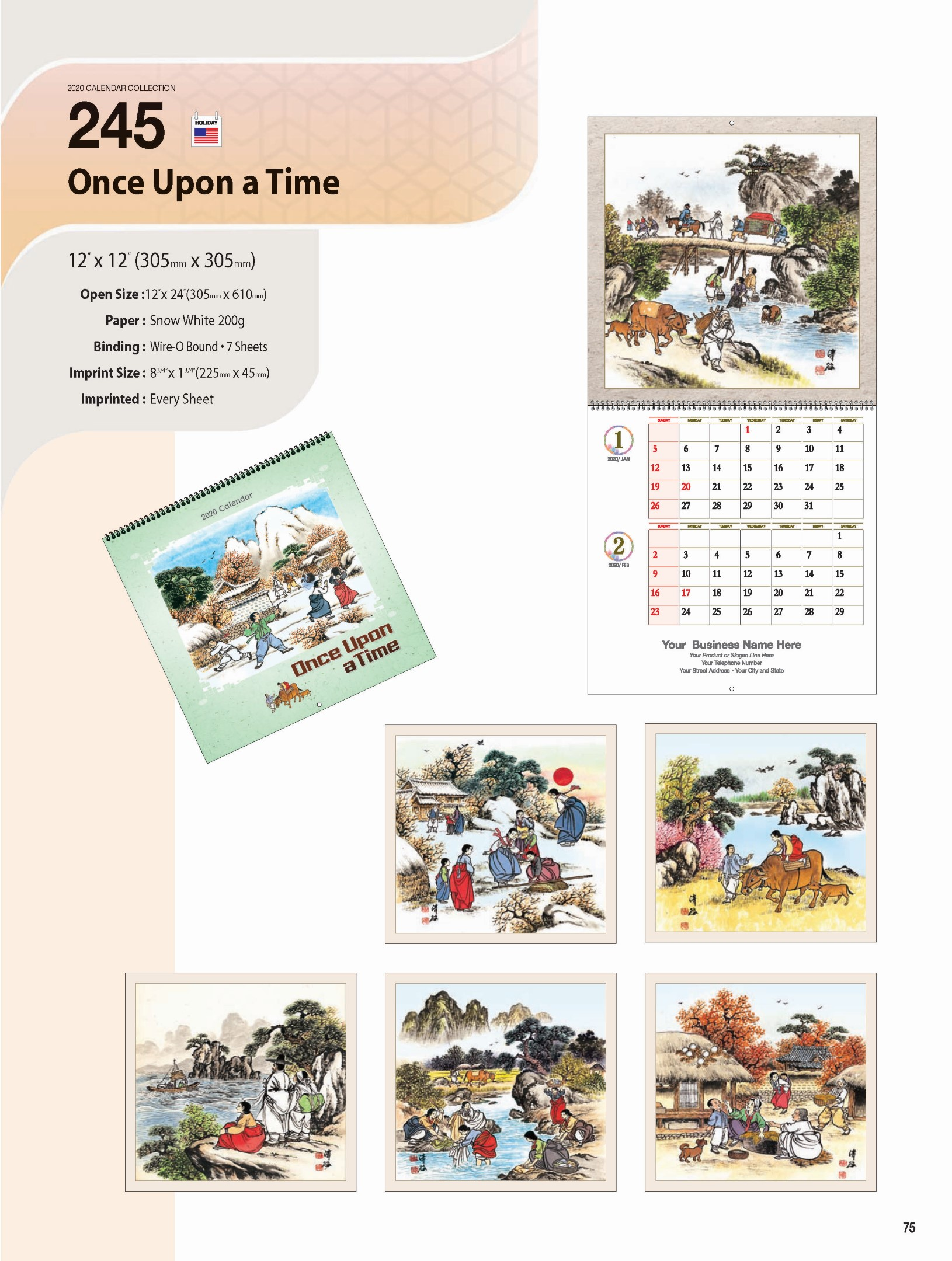 Once Upon A Time Calendar 2020 CP Printing & Century Calendars: Order Printing